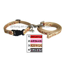 Leopard Dog Leash with Collars