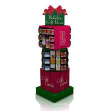 Pantalla de papel rotatoria creativa para regalos, pantalla de cartón PDQ color