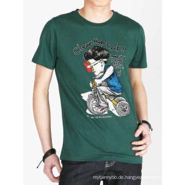 Das Baumwoll-T-Shirt der kundenspezifischen lustigen Karton-Mode-Druck-Männer