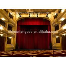 Cortina de palco elétrica pré-fabricada por atacado para teatro