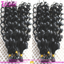 2016 Hot Sale Stick Tip Curly Hair Extensions Wholesale Price Very Natural Stick Tip Curly Hair Extensions