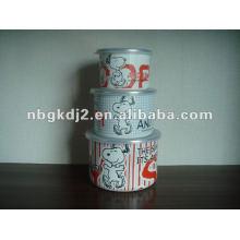 recipiente de almacenamiento de esmalte