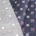 Dyed woven printed 100% cotton sateen fabric