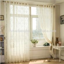 Home decoração de linho puro cortina voile cortina de cor pura