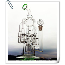 Wholesale Mothership Helix Recycler Perc 4 Arm 1 Gear Intricate Shape Glass Smoking Water Pipe