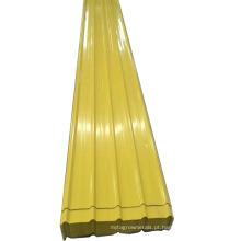 Chapa de aço corrugada galvanizada colorida PPGI