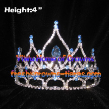 4-Zoll-Hot Selling Strass Pageant Kronen