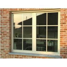 Polyester White Powder Coat Französisch Aluminium Türen und Fenster