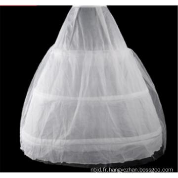 Robe de mariée robe de bal de haute qualité jupe en dentelle en crinoline