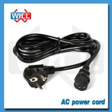 VDE Standard EU Power Cord with 2 Round Pin European Plug