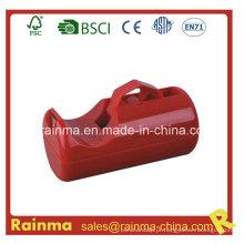 Dispensador de fita de mesa de cor vermelha