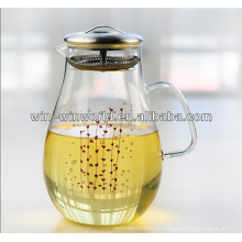 Cooling Water Glass Pot With Stainless Steel Strainer
