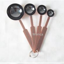 4 tamaños de acero inoxidable galvanizado cuchara de medición