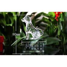 Melhor K9 Clear Cristal Animal Modelo Dog Figurines (KS03057)