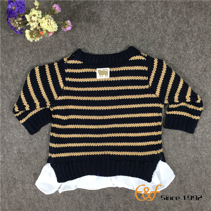 sweater with chffion hem