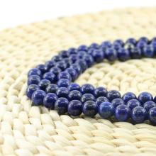 L-0059 Stylish Lapis Lazuli Smooth Round Natural Gemstone Beads Wholesale