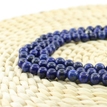 L-0059 Elegante Lapis Lazuli Suave Rodada Natural Gemstone Beads Atacado