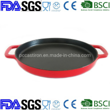 11.8′′ Enamel Cast Iron Griddle Pan From China Factory