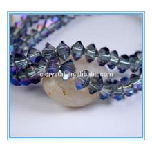 Africano cristal perlas joyas conjunto vuelo platillo cuentas de vidrio