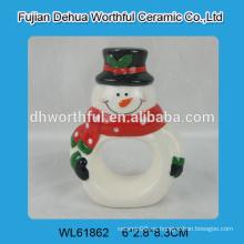 Anillos de cerámica de la servilleta del muñeco de nieve de la nueva llegada 2016
