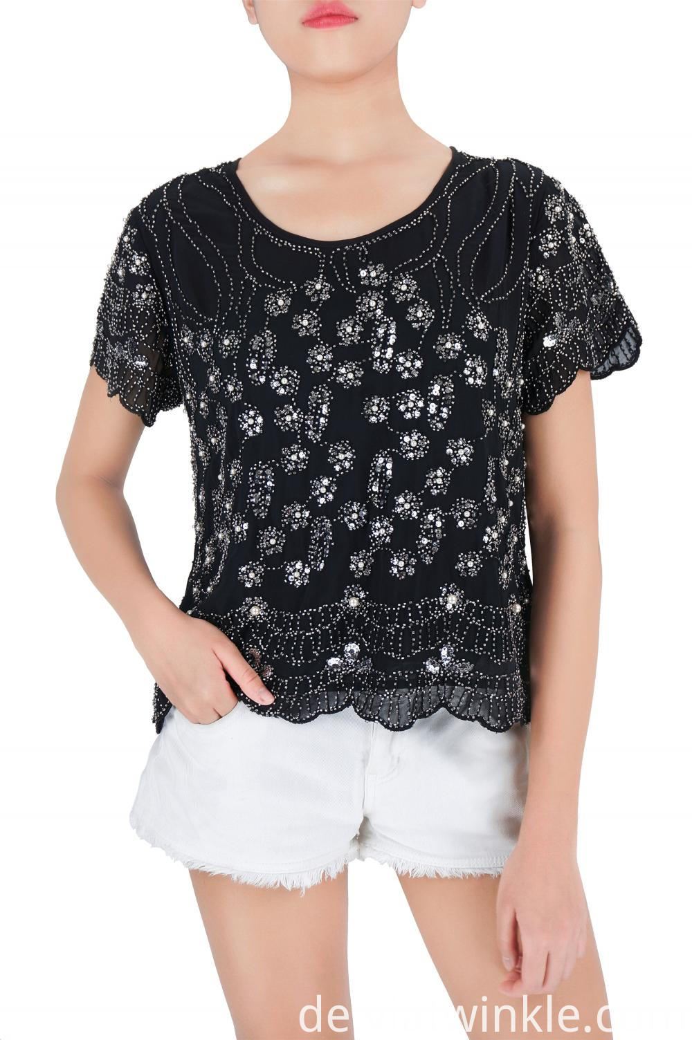 Sequin Embroidered Blouses