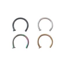 18 anillos de anillo de la nariz del calibrador 8m m 5/16 en negro, oro, plata y arco iris