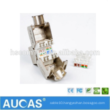 AUCAS CAT5E FTP Zinc Alloy network module / shielded keystone jack module