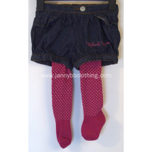 baby girl black jean bloomer shorts