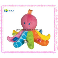 Colorized Plush Rattle Octopus for Baby Toy (XDT-0220)