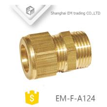 EM-F-A124 accouplement Mâle filetage laiton rapide cooper tuyau connecteur