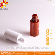 30ml red and white luxury plastic bottle
