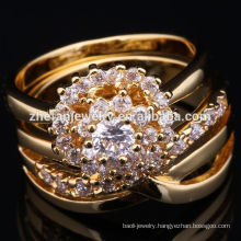 2018 arabic fashion 22k gold ring design for women