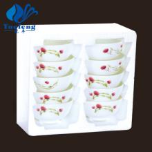 Conjunto de tigela vidro-10PCS Opal resistente ao calor
