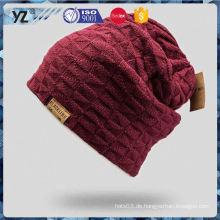 Hauptprodukt einfache Entwurf kundenspezifische Dame stricken Hut 2016