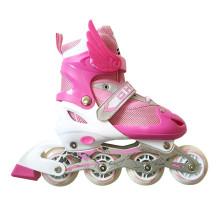 Розовые спортивные роликовые коньки