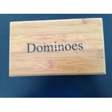 Domino-Set mit Bambus-Box