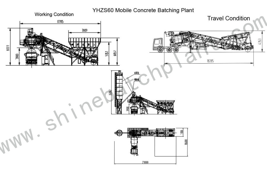 Drawing Mobile Batch Plant 60