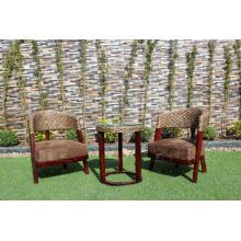 Design de interiores de alta categoria, Hyacinth de água, conjunto de chá de café para móveis de vime de interior e natural