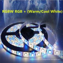 Luz de tira impermeável do diodo emissor de luz da CC 12V 24V IP68 de SMD 5050 60leds / m RGBW