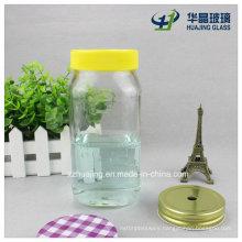 550ml 18oz Bulk Clear Empty Food Storage Glass Mason Jar