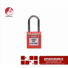 Wenzhou BAODSAFE 38 мм Стальной ксеной безопасности Padlock Lock BDS-S8601D Красный