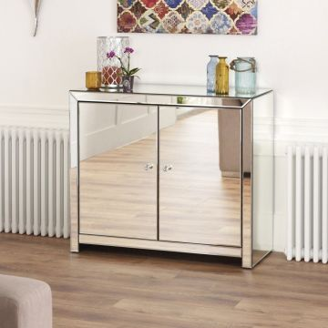 Venetian Mirrored 2 Door Sideboard