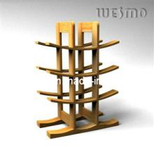 Porte-bouteille à vin avec bambou