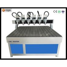 Machine de travail du bois CNC multi-broches à haute efficacité
