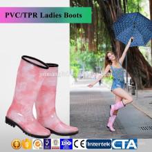 New Fashion rain boots Environmental latest design ladies fashionable rain boots