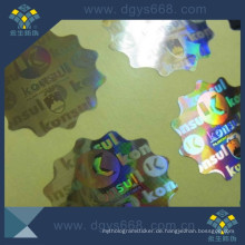 Sicherheit Anti-Fake Hologramm Laser Aufkleber Custom Printing in China