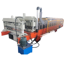 Color glaze steel corrugated roof roll forming machine