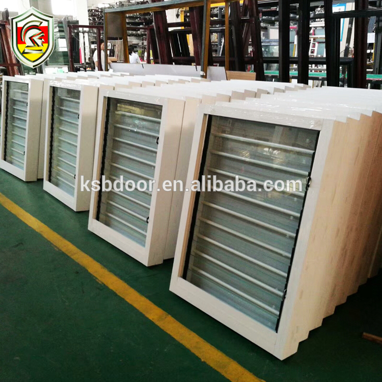 Water proof aluminium frame window with built-in shutter