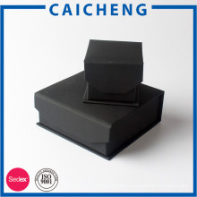 Матовый черный коробка подарка картона ювелирных изделий коробка малого продукта упаковывая