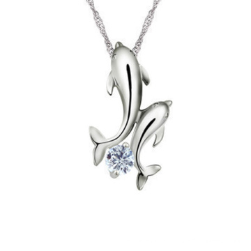 Silver Dolphins Necklace Pendant 925 Sterling Silver Pendants Wholesale